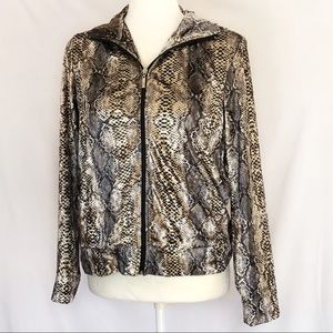Animal Print Snake Printed Soft Jacket